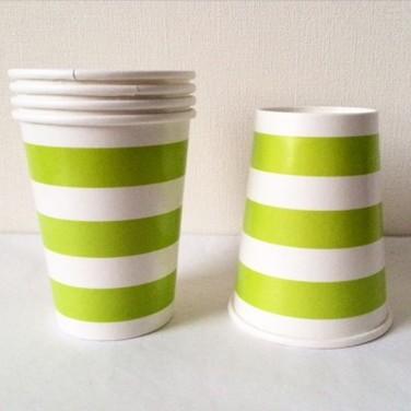 Vasos de carton con lineas - MULTICOLOR