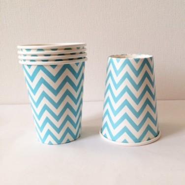 Vasos de cartón con chevron- MULTICOLOR
