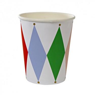 Vasos de cartón - HARLEQUIN