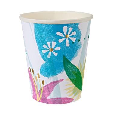 Vasos de cartón - Paint flowers