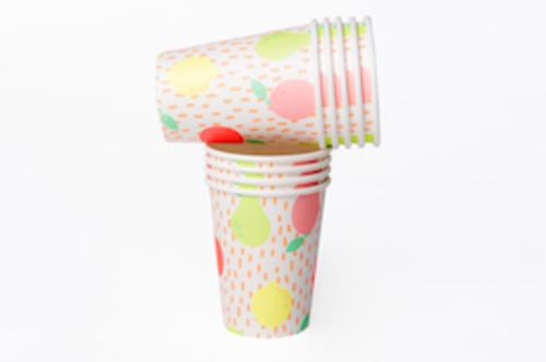 Vasos de cartón - FRUTAS NEON