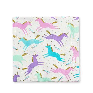 Servilletas de papel Unicornios  - lavanda