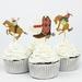 Topper cup cakes Vaqueros