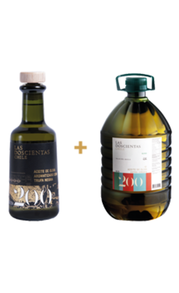 Pack Aceite de oliva Extra Virgen Las 200 Blend 5 lt + Trufa Negra 250 ml