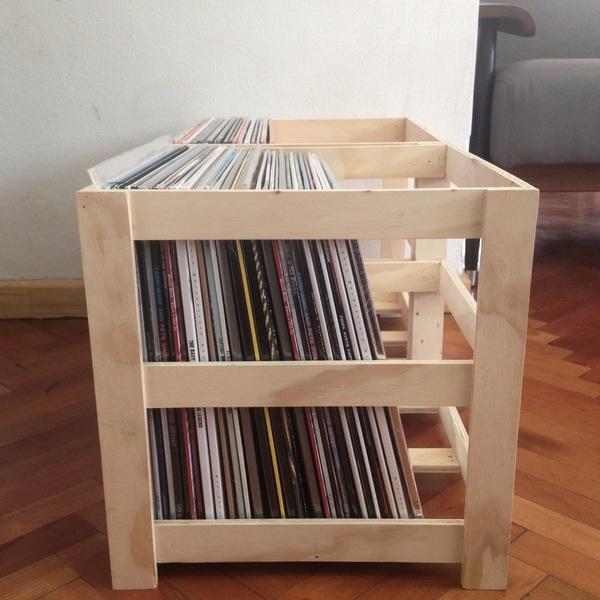 Caja de madera para vinilos needle - Vinilos para muebles de madera ...