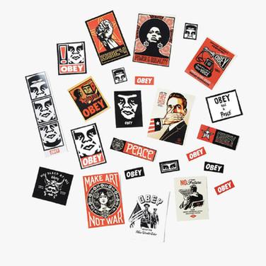 Set de Stickers Obey 3 / Mix