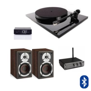 Tornamesa Planar 1 + Pre A2D + Amplificador Fx Audio + Parlantes Spektor 1