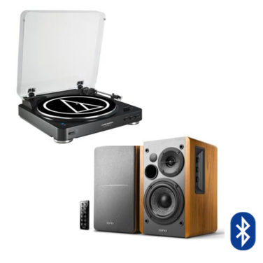 Tornamesa Bluetooth AT-LP 60 BT + Parlantes R1280DB