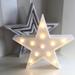 Lámpara Led Figura Estrella Decoración Luz