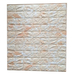 Pack 10 Lamina Papel Mural Pared 3d Ladrillo Blanco con cafe