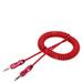 Pack 10 Cables Aux 3 Polo Conector Audio Retráctil Espiral 1,5