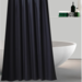 Cortina Baño Ducha Negra Poliéster 180x180