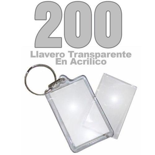 200 Llaveros Acrílicos Portafotos