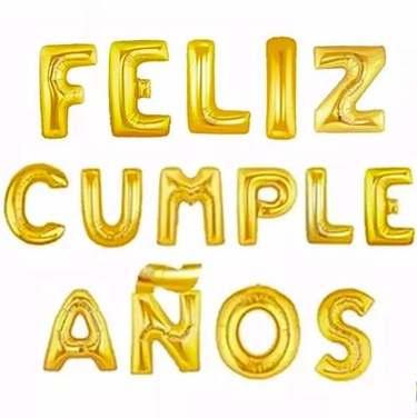 Globos Feliz Cumpleaños Metálicos (plateado, Dorado)