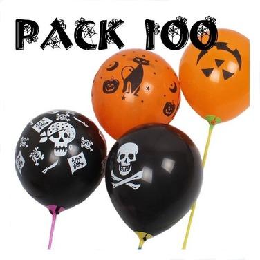 Pack 100 Globos Halloween