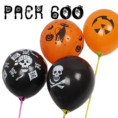 Pack 600 Globos Halloween