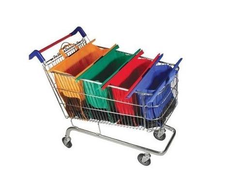 Pack 4 Bolsas Super Mercado Ecologicas Organizadoras