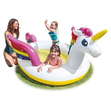 Piscina Bebes Unicornio C/ Alas Original Intex