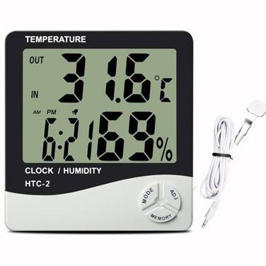 Higrómetro C/ Sonda Externa Reloj Alarma Con Registro Htc-2