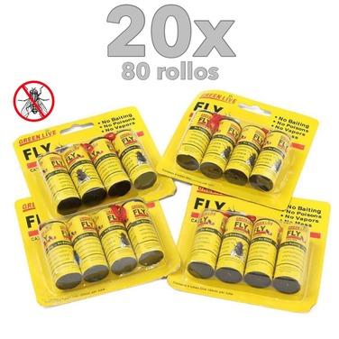 80 Papel Mata Moscas Efectivo No Toxico