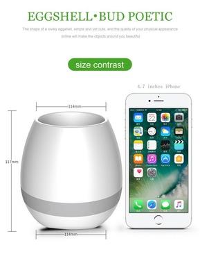 Macetero Led Bluetooth Lampara Recargable