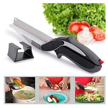 Cuchillo Tijera Cocina 2 En 1 Multifunción