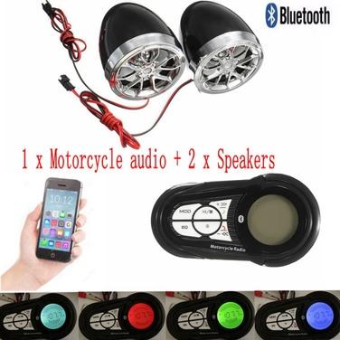 Radio Fm Para Moto Bluetooth Usb Sd