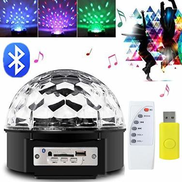 Bola Disco Led Bluetooth Ritmica Con Parlantes Fiestas