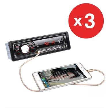 3x Radio Auto Fm Mp3 Usb Cdx- Gt 1053 Control