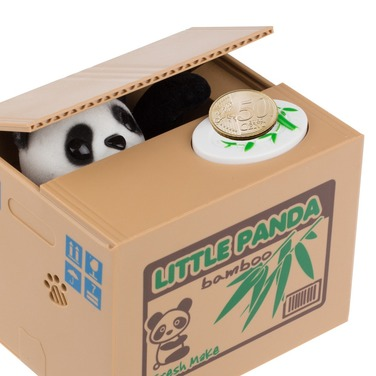 Alcancía Panda Electrónico Monedas