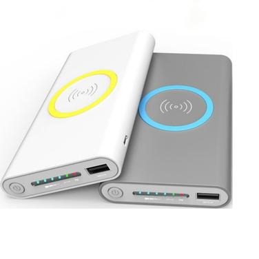 Power bank Qi Wireless Cargador de Batería Recargable Rápido