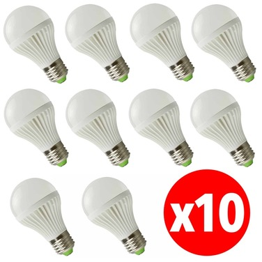 Pack 10 Ampolleta Led 7w Ahorro Energia 220v