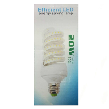6 Pack Ampolletas Led Espiral 20w