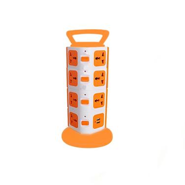 Alargador Zapatilla Electrica Vertical + Usb