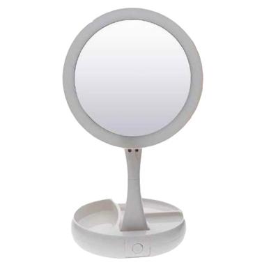 Espejo Luz Led Redondo Doble Cara, Con Aumento Y Normal