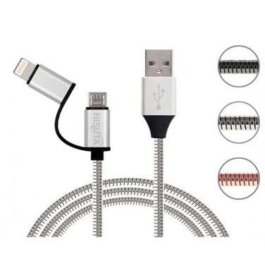 Cable Usb Transmisión Y Carga De Datos 2 En 1