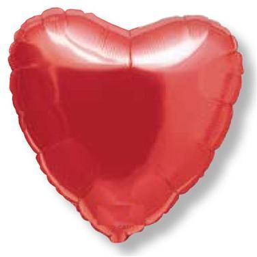 12 Globos de corazon Metalizados