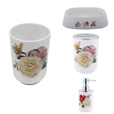 Set Baño Diseño 4 Piezas rosas Bathlux