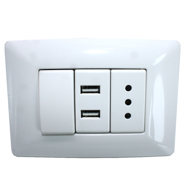 Enchufe Pared 220v. Usb Doble , Interruptor