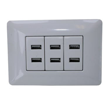 Enchufe Pared 220v. Usb Triple