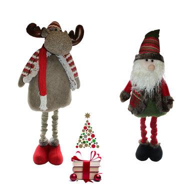 Pack 2 Figuras Decorativas Navidad