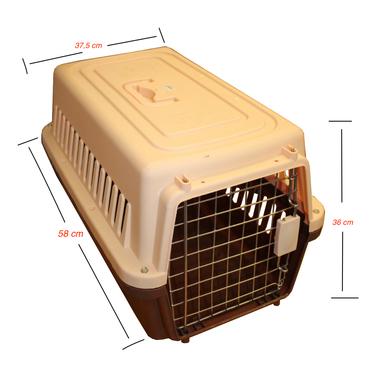 Jaula Transporte Mascotas 58 x 37,5 36cm
