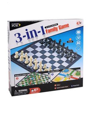 Juego De Mesa 3 En 1 Family Game