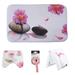 Set Baño Diseño 4 Piezas flor y piedra Bathlux