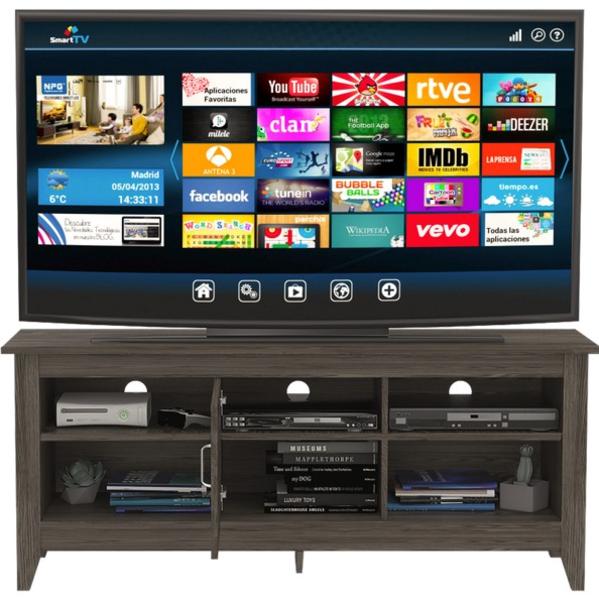 Rack TV Essential 65 con Puerta Coñac