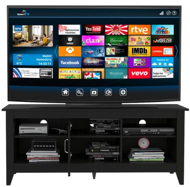 Rack TV Essential 65 con Puerta Wengue