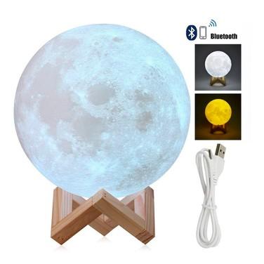 Lampara Luna Y Parlante Bluetooth 18cms