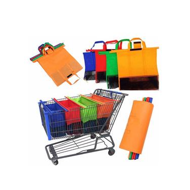 Set 4 Bolsas Organizadoras Supermercado Compras