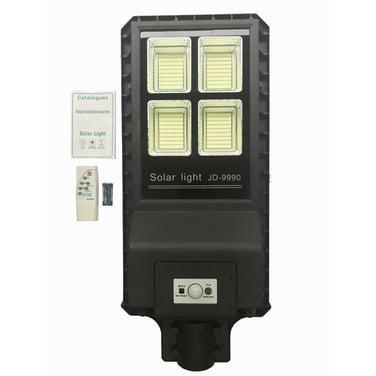 Foco Led Solar + Poste Luminaria Panel C/remoto 90w