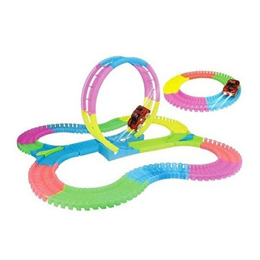 Autopista Loop Mágica Flexible Brilla 132 Pcs Fluor
